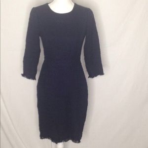 JCrew Long Sleeve Fall/Winter Dress Fringe Details